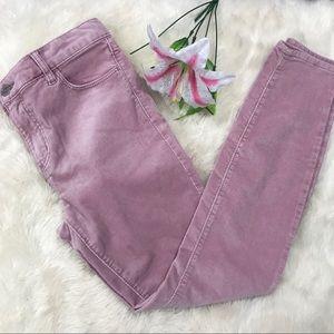 {Loft} Modern Skinny Pink Corduroys